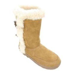 White Mountain Oliva Tan Leather Winter Boots